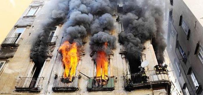 Incendio in palazzo