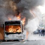 Roma, Bus in fiamme