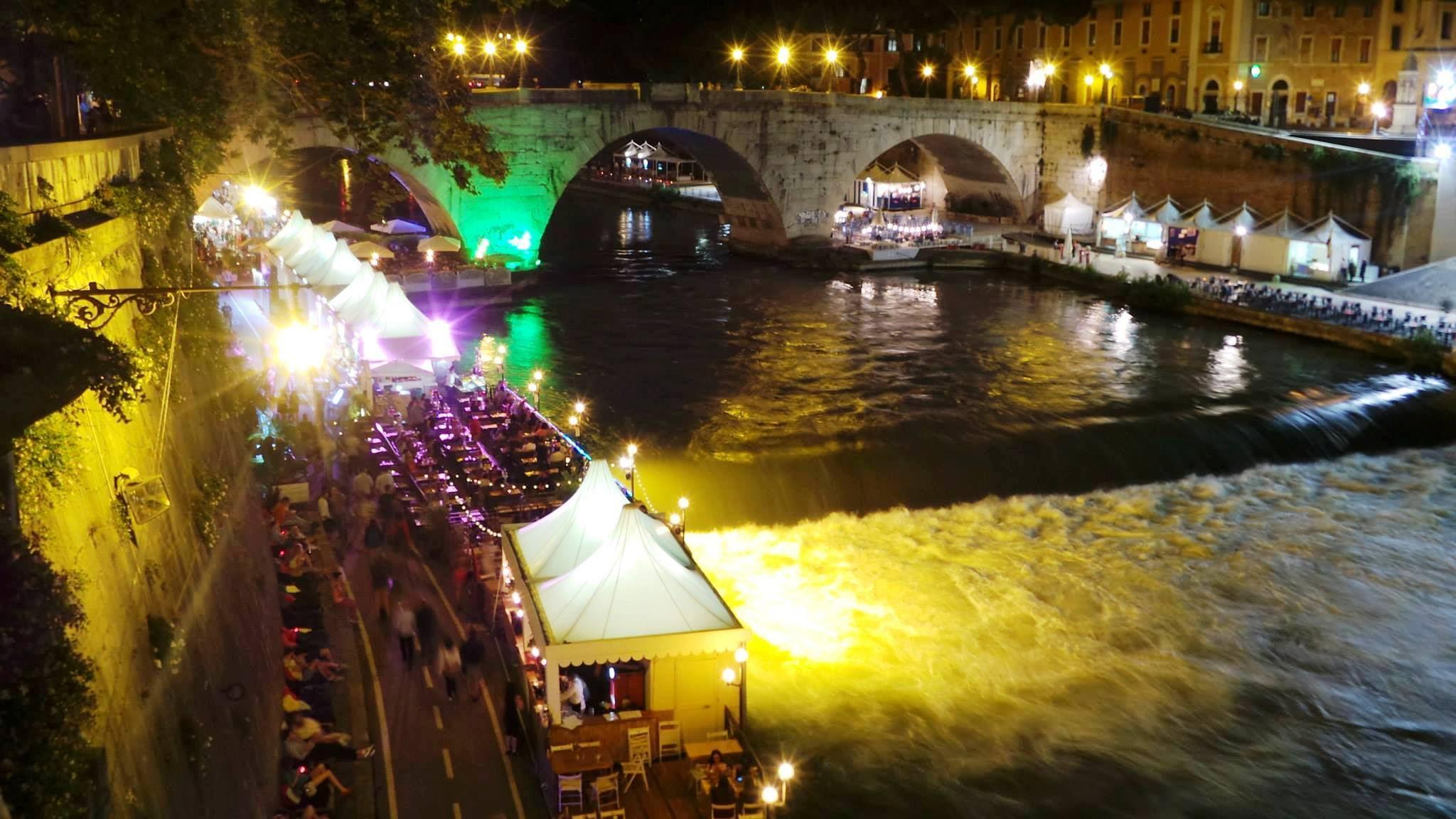 Eventi presso il Tevere a Roma