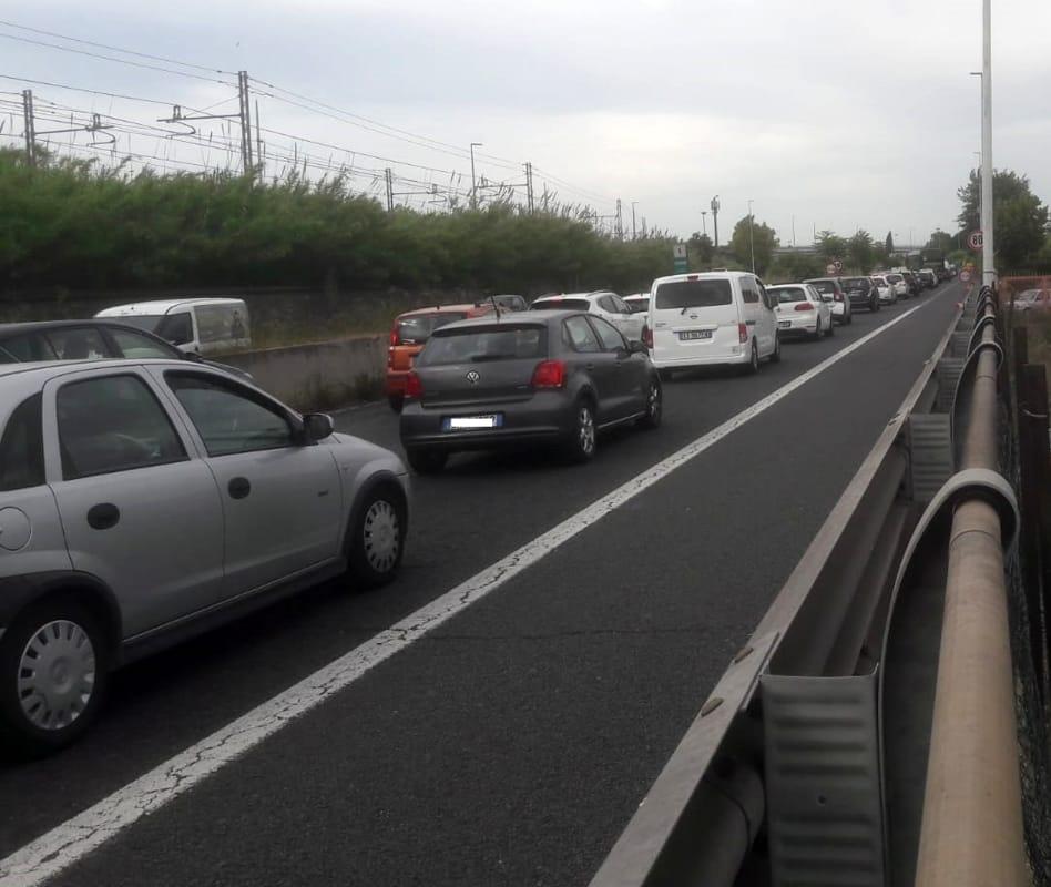 Roma Fiumicino viadotto della Magliana