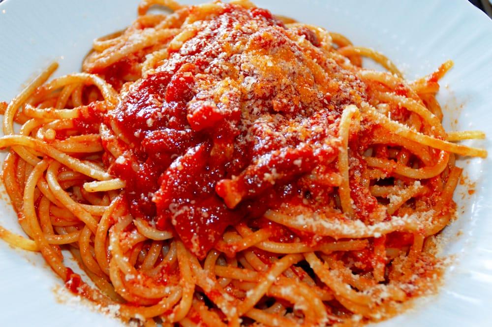 Gli spaghetti all'Amatriciana