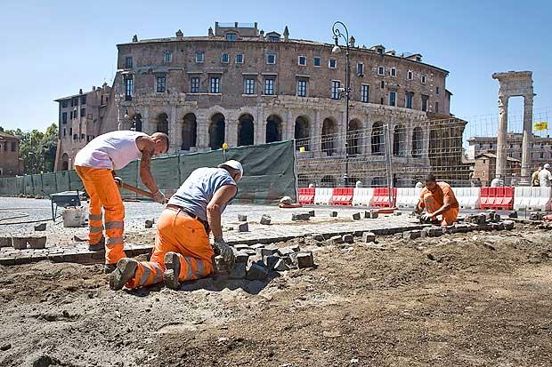 Lavori attivi al Colosseo