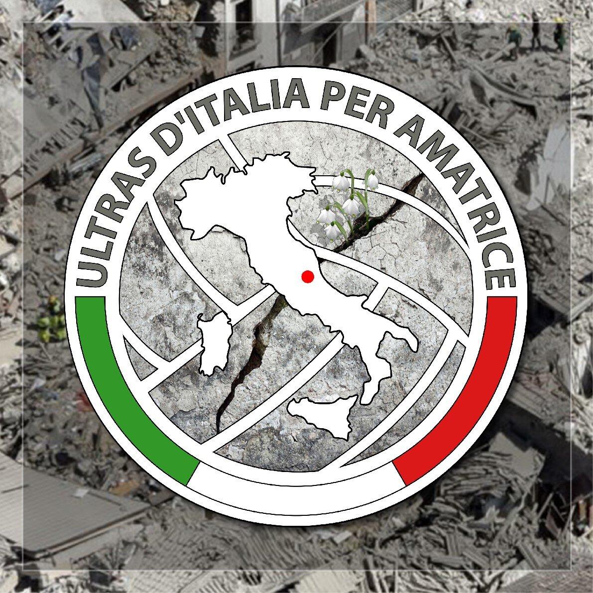 Gli ultras italiani per Amatrice