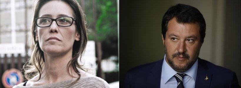 Salvini e Ilaria Cucchi