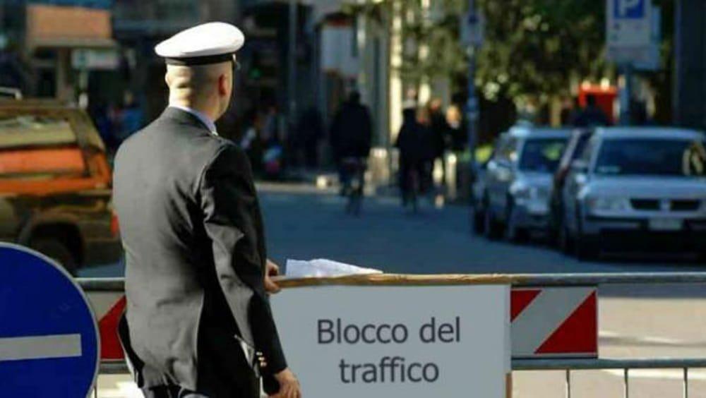 Blocco traffico a Roma