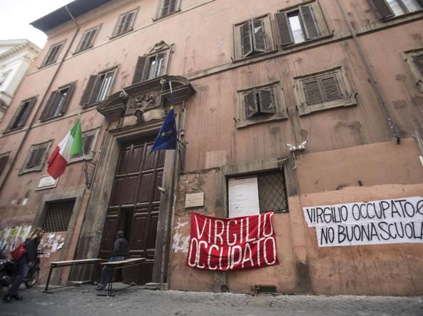 Il Liceo Virgilio di Roma occupato