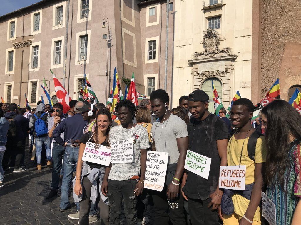 Manifestazione migranti a Roma contro il razzismo
