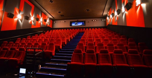 Sala cinematografica a Roma
