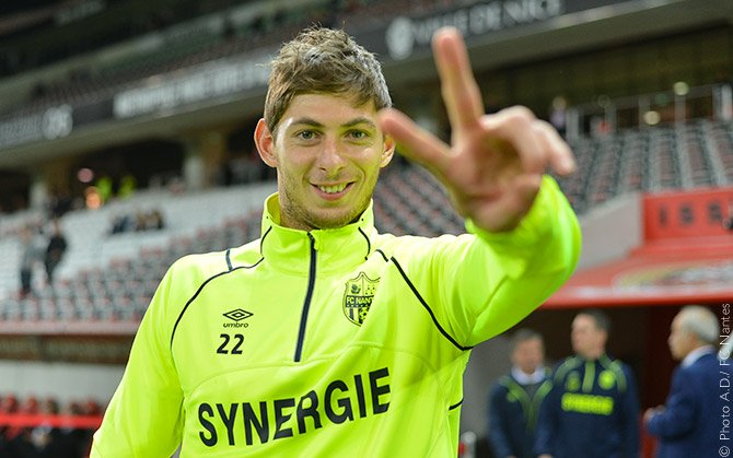 Emiliano Sala tragicamente scomparso in incidente aereo