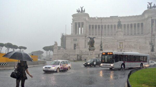 Brutto tempo a Roma