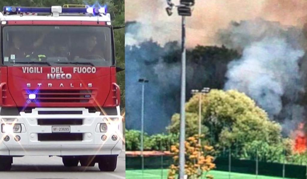 ROMA incendio sterpaglie